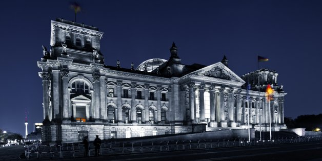 Reichstag at night