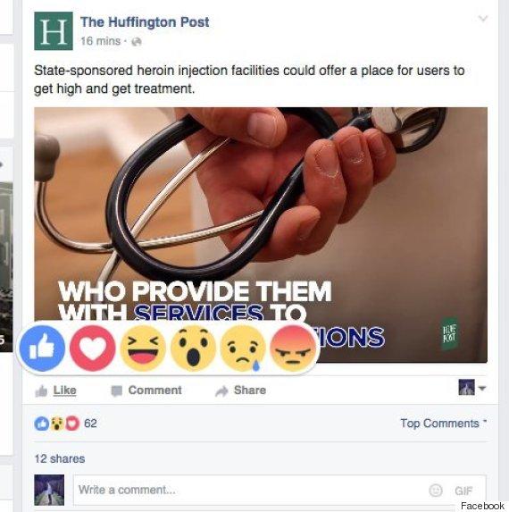 facebook react