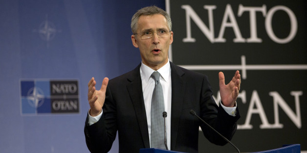 NATO Secretary General Jens Stoltenberg speaks during a media conference at NATO headquarters in Brussels on Wednesday, Feb. 10, 2016. NATO and the European Union have signed an agreement to improve cooperation in cyberdefense, which NATO Secretary-General Jens Stoltenberg called a concrete example of the two Brussels-based organizations joining forces to counter modern forms of hybrid warfare. (AP Photo/Virginia Mayo)