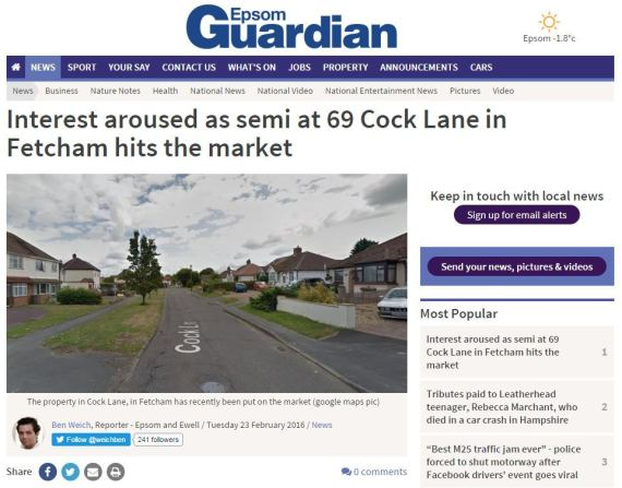 epsom guardian 69 cock lane