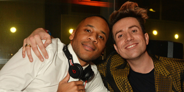 Reggie Yates and Nick Grimshaw attend the Universal Music BRIT Awards After-Party 2016