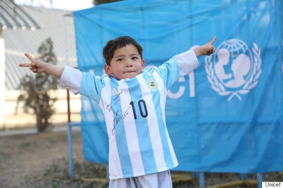little boy messi shirt afghan