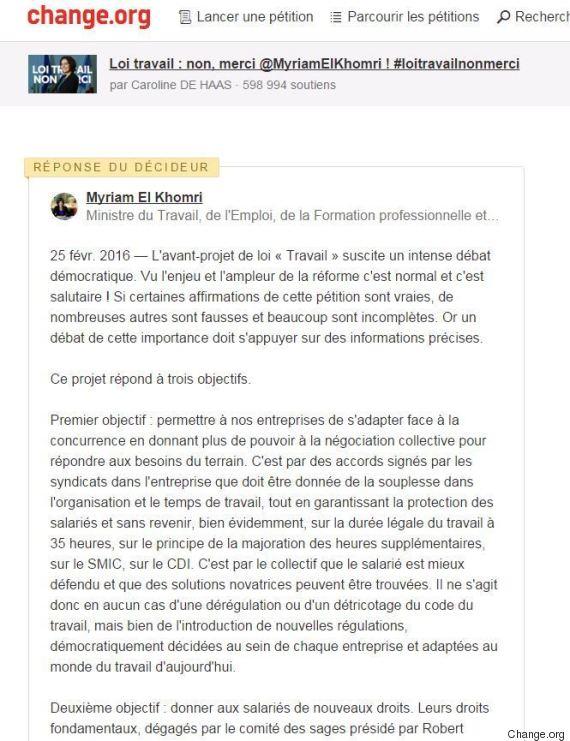 petition loi el khomri