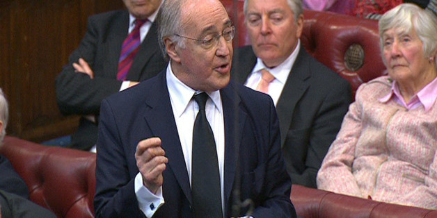 Lord Howard speaks during a tribute to Baroness Margaret Thatcher in the House of Lords in London.