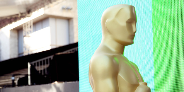 An Oscar statue is seen during setup for the 88th Academy Awards in Los Angeles, Wednesday, Feb. 24, 2016. The Academy Awards will be held at the Dolby Theatre on Sunday, Feb. 28. (Photo by Matt Sayles/Invision/AP)