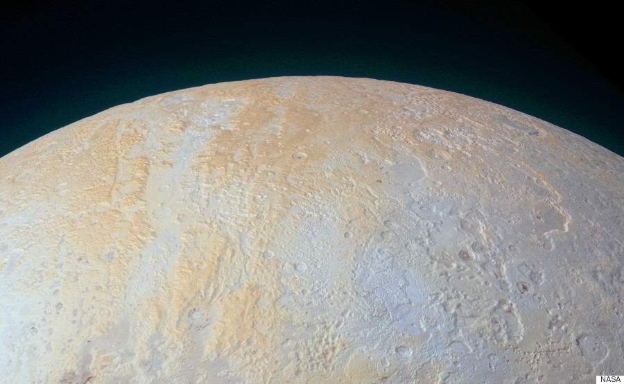nasa pluto frozen canyons