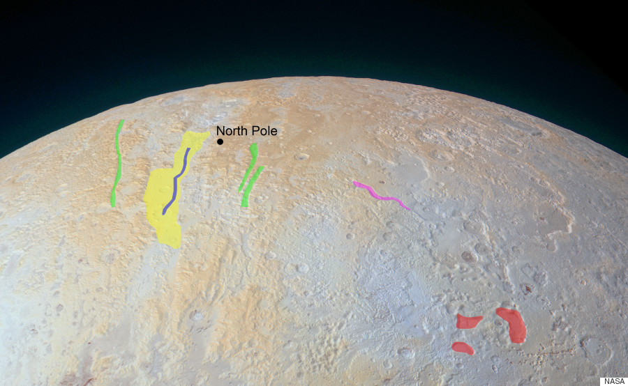 nasa pluto frozen canyons annotated