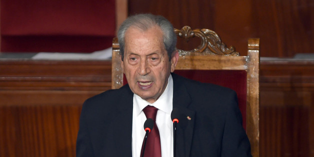 The new president of the Tunisian parliament, Mohamed Ennaceur, gives his first speech during a plenary session in Tunis, Thursday, Dec. 4, 2014.  Tunisia's new Parliament has chosen a leader — an 80-year-old from a secular party who spent decades in politics under autocratic regimes. The country's first permanent legislature since a popular uprising in 2011 elected Mohamed Ennaceur of the Nida Tunis party as its president Thursday. (AP Photo/Hassene Dridi)