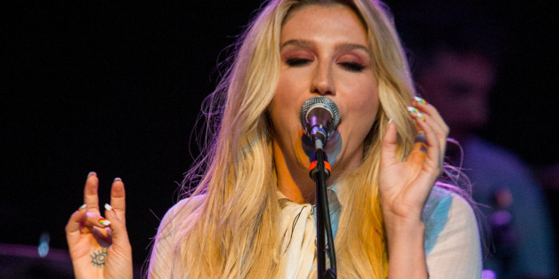Kesha performs on stage during Brian Fest: A Night To Celebrate The Music Of Brian Wilson at the Fonda Theatre on Monday, March 30, 2015, in Los Angeles. (Photo by Paul A. Hebert/Invision/AP)