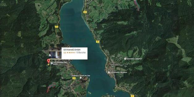 Uli Hoeneß Haus bei Google Maps markiert