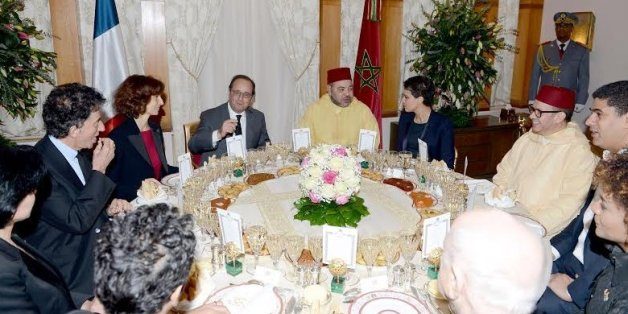 Mohammed VI offre un dîner en l'honneur de François Hollande