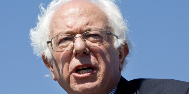 His hair blowing in the wind, Democratic presidential candidate Sen. Bernie Sanders, I-Vt., speaks during a campaign rally at the Circuit of the Americas in Austin, Texas, Saturday, Feb. 27, 2016. (AP Photo/Jacquelyn Martin)
