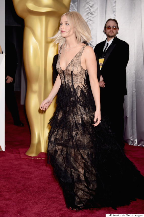 Oscars 2016: Jennifer Lawrence\'s Dior Academy Awards Gown Is Sheer ...
