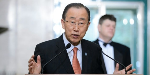 United Nations Secretary General Ban Ki-moon, secrétaire général de l'ONU, le 29 février 2016 à Genève