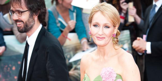 J. K. Rowling mit ihrem Mann