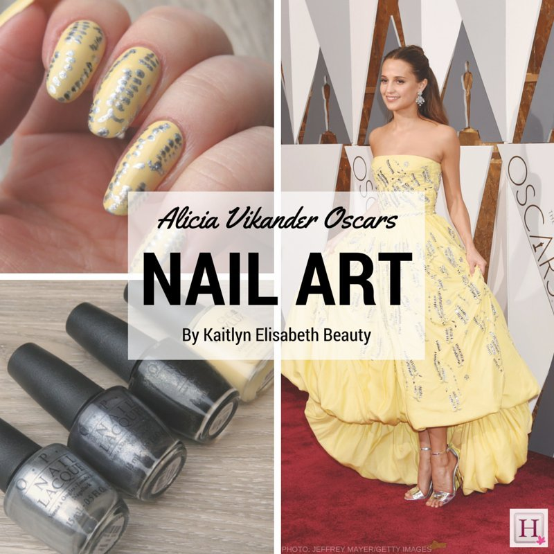 Nail Art Inspired By Alicia Vikander\'s Louis Vuitton Oscars Dress