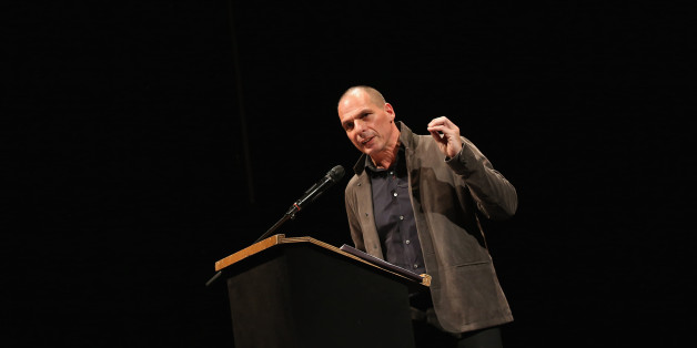 BERLIN, GERMANY - FEBRUARY 09:  Former Greek Finance Minister Yanis Varoufakis speaks at the official launch of the Democracy in Europe Movement 2025 (DiEM25) at the Volksbuehne theater on February 9, 2016 in Berlin, Germany. Veroufakis is co-founding the new political movement together with other left-leaning politicians and thinkers from across Europe. Veroufakis said he sees Europe in danger of disintegration due to a rise in nationalism among some states not unsimilar to the rise of national
