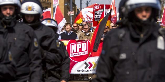 NPD-Anhänger bei einer Demonstration in Berlin 2013