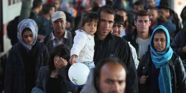 Flüchtlinge auf der Einreise von Afghanistan nach Europa