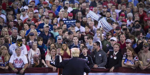 VALDOSTA, GA - FEBRUARY 29: Republican presidential candidate Donald Trump speaks during a campaign event at the Valdosta State University in Valdosta, GA on Monday Feb. 29, 2016. (Photo by Jabin Botsford/The Washington Post via Getty Images)