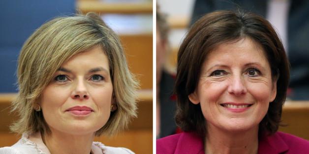 Wollen Ministerpräsidentinnen werden: Die rheinland-pfälzische Ministerpräsidentin Malu Dreyer (SPD, r) und die rheinland-pfälzische CDU-Oppositionschefin Julia Klöckner