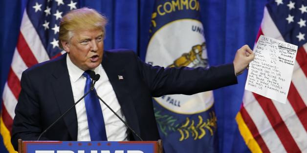 Donad Trump bei einer Wahlkampfveranstaltung