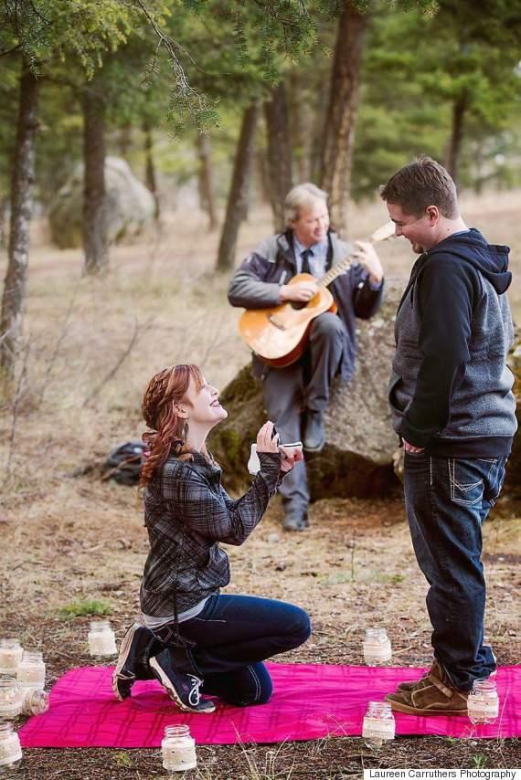 woman proposing
