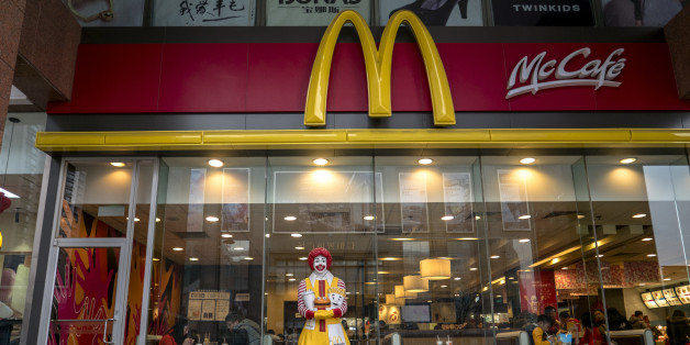 TIANJIN, CHINA - 2016/02/21: A figurine of Ronald McDonald stands outside a McDonald's restaurant.  McDonalds announced its fourth-quarter same-store sales of 2015 in China rose 4%, a second straight quarter of growth. (Photo by Zhang Peng/LightRocket via Getty Images)