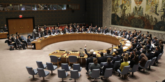 The United Nations Security Council votes on a resolution during a meeting at U.N. headquarters, Wednesday, March 2, 2016. The U.N. Security Council voted Wednesday on a resolution that would impose the toughest sanctions on North Korea in two decades. (AP Photo/Seth Wenig)