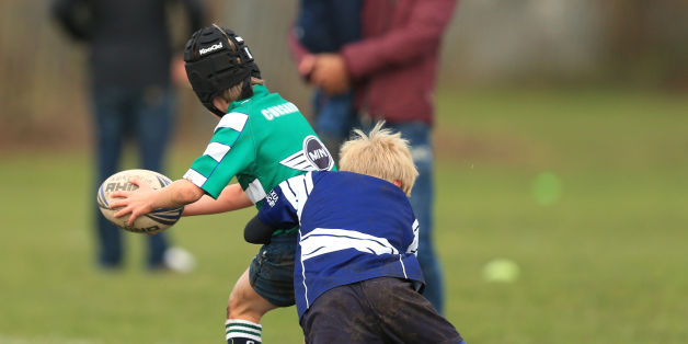 Undated file photo of an U9's rugby match between Newark and Nottingham at Nottingham Rugby Club, as more than 70 doctors and health experts have written to the Government calling for a ban on tackling in school rugby games.