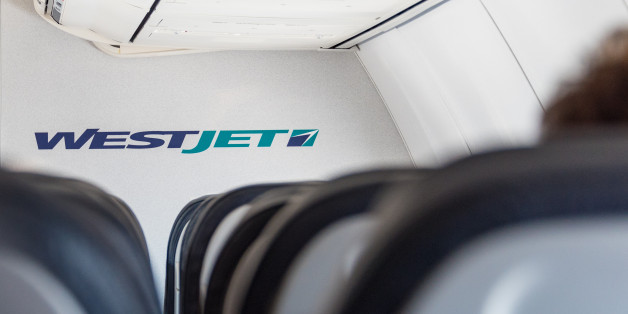 TORONTO, ONTARIO, CANADA - 2015/09/26: Interior of a Westjet plane. WestJet Airlines Ltd. is a Canadian low-cost carrier that provides scheduled and charter air service to 100 destinations in Canada. (Photo by Roberto Machado Noa/LightRocket via Getty Images)