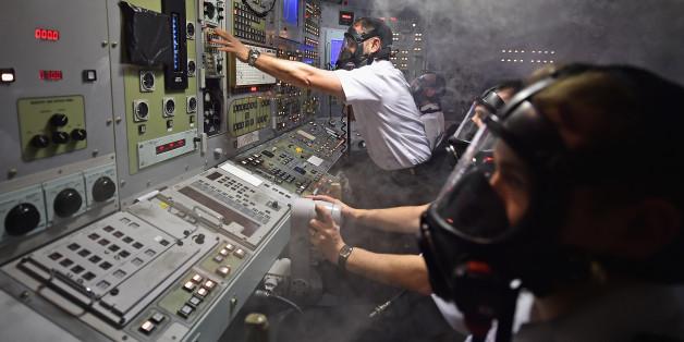 Eine Übung auf eine britischen Atom-U-Boot