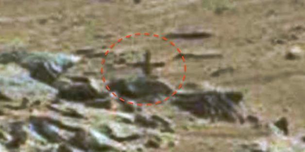 Auf diesem Foto wollen Ufo-Jäger ein Kreuz entdeckt haben