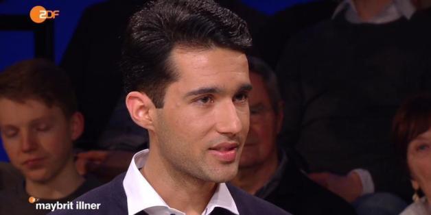 """Der afghanische Flüchtling Mazour Hossein Sharifi bei """"Maybrit Ilner"""""""