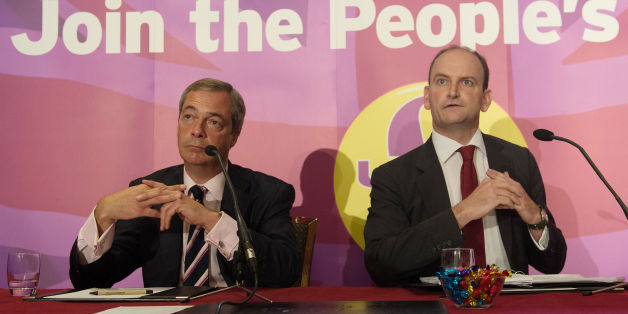 "File photo dated 28/08/14 of Ukip leader Nigel Farage (left) with Douglas Carswell, who has issued a fresh call for party leader Nigel Farage to stand down in favour of someone who radiated ""sunshine and optimism""."