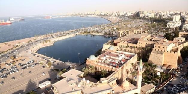 Vue aérienne de la capitale libyenne Tripoli, le 25 février 2016