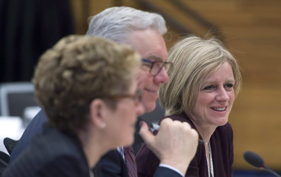 first ministers meeting notley selinger wynne