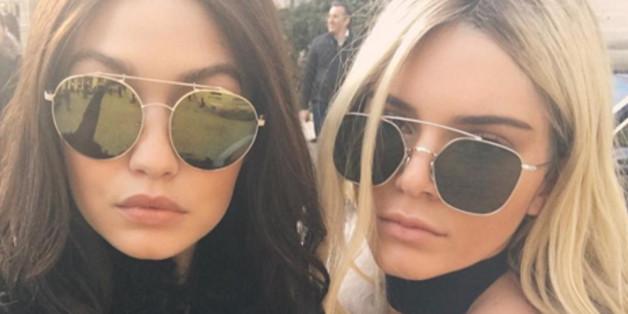 Kendall Jenner ist blond, Gigi Hadid brünett
