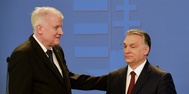 Orban beim Treffen mit Seehofer