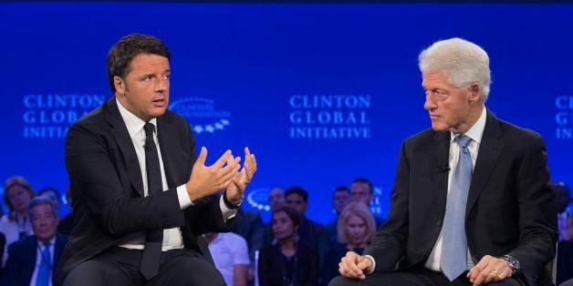 Matteo Renzi avec Bill Clinton en novembre 2015