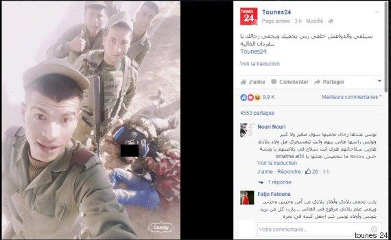 selfie morbide des présumés militaires tunisiens