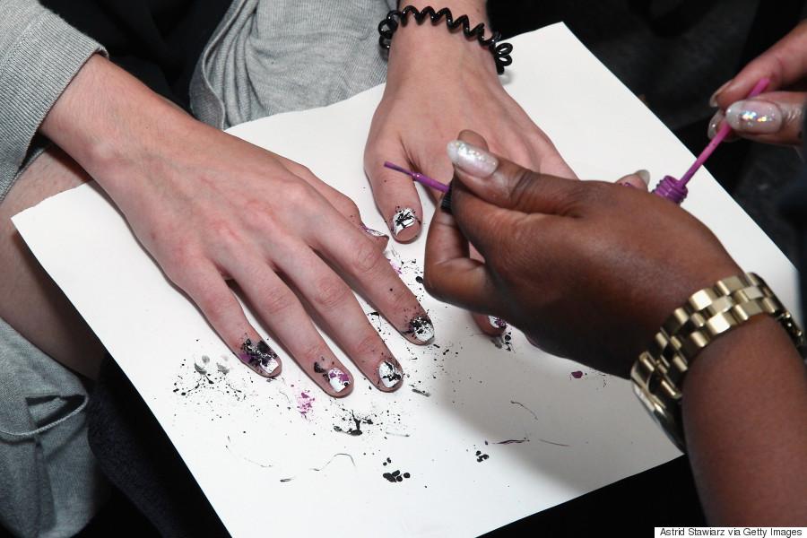 Spring Nail Art: Create A Paint Splatter Design Using A Bobby Pin