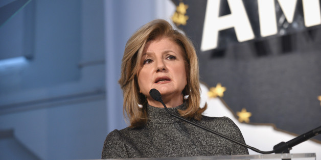 NEW YORK, NY - NOVEMBER 07:  Chair, President and Editor-in-Chief, Huffington Post Media Arianna Huffington speaks during a keynote address during Martha Stewart American Made Summit at Martha Stewart Living Omnimedia Headquarters on November 7, 2015 in New York City.  (Photo by Bryan Bedder/Getty Images for Martha Stewart Living Omnimedia)