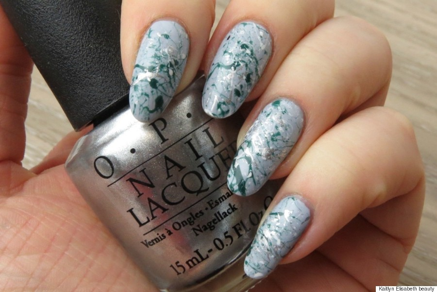 Spring Nail Art: Create A Paint Splatter Design Using A Bobby Pin