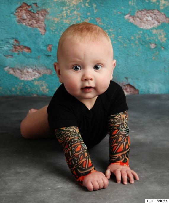 your baby can have full tattoo sleeves (without going under the