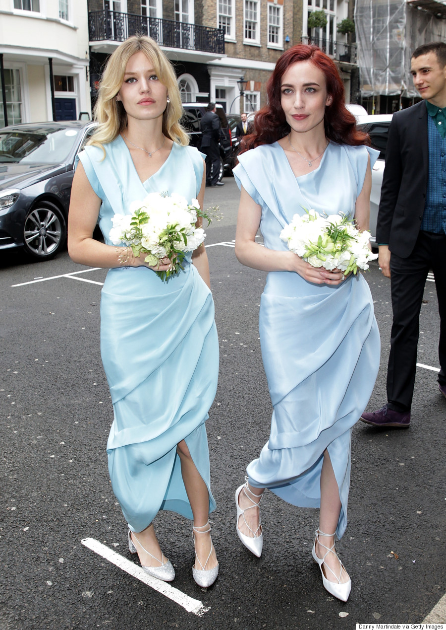 Jerry Hall Looks Stunning In Vivienne Westwood Wedding Dress As She ...