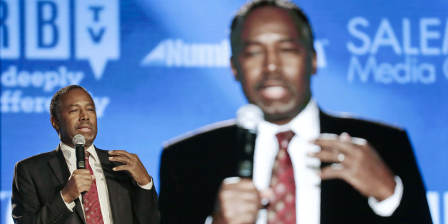 Republican presidential candidate Ben Carson speaks at the National Religious Broadcasters convention Friday, Feb. 26, 2016, in Nashville, Tenn. (AP Photo/Mark Humphrey)