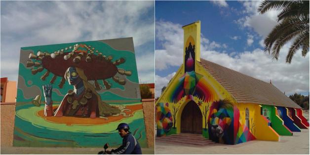 De grands noms du street art ont peint des fresques géantes à El Youssoufia