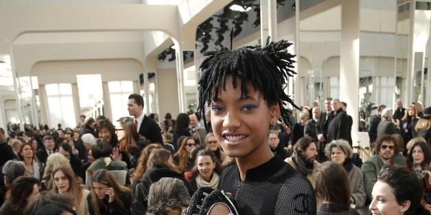 Willow Smith au défilé Chanel ce 8 mars à Paris.