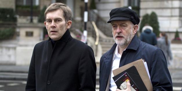 Seumas Milne with Jeremy Corbyn